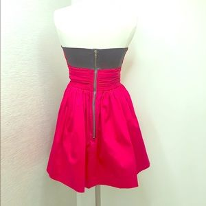 Hot Pink LaRok Strapless Party Dress with Pockets